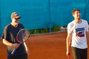 Magnus Tideman och Jeremy Chardy. Foto: Alex Theodoridis/Tennisportalen