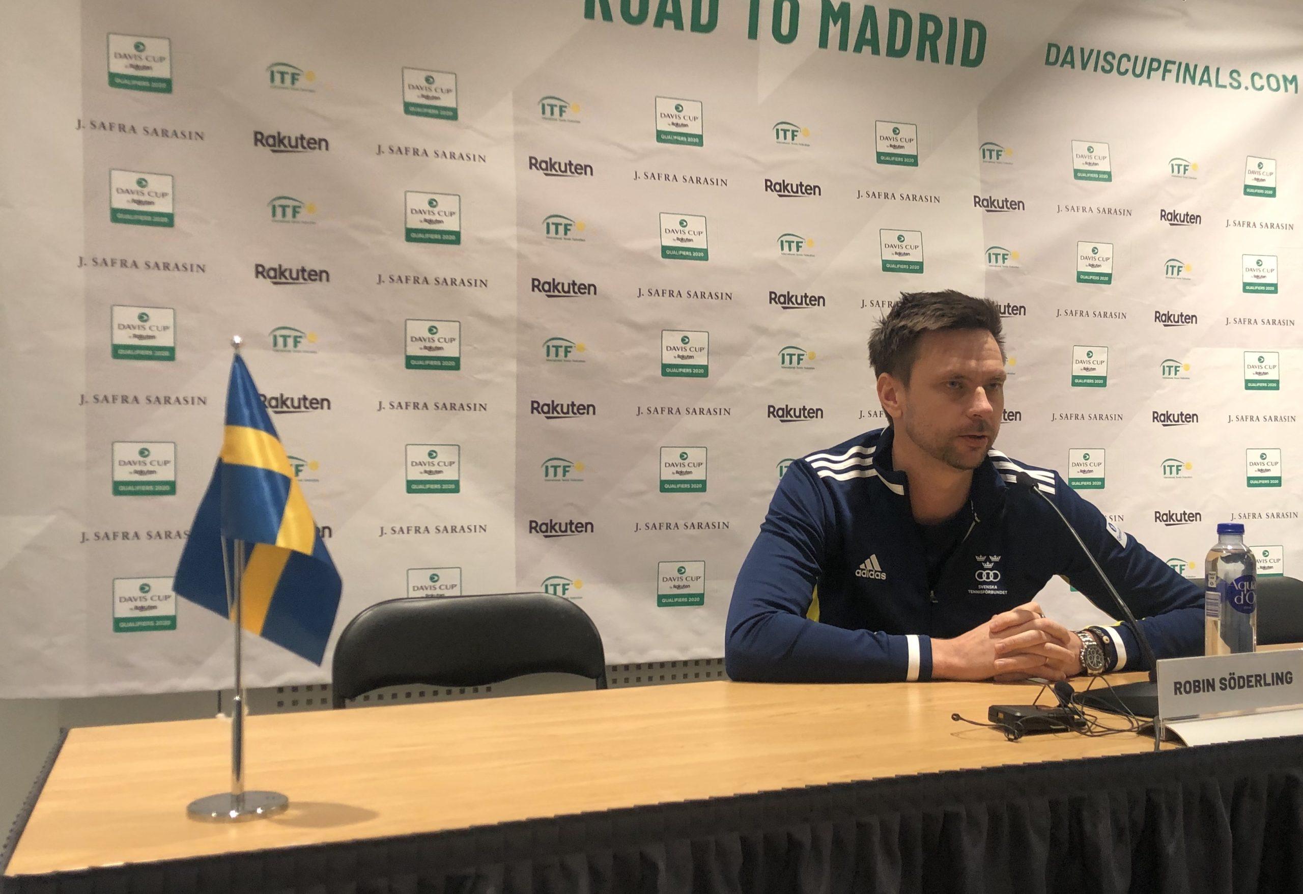 """Presskonferens med Robin Söderling: """"Klart vi hade valt Chile utan Garin/Jarry"""""""