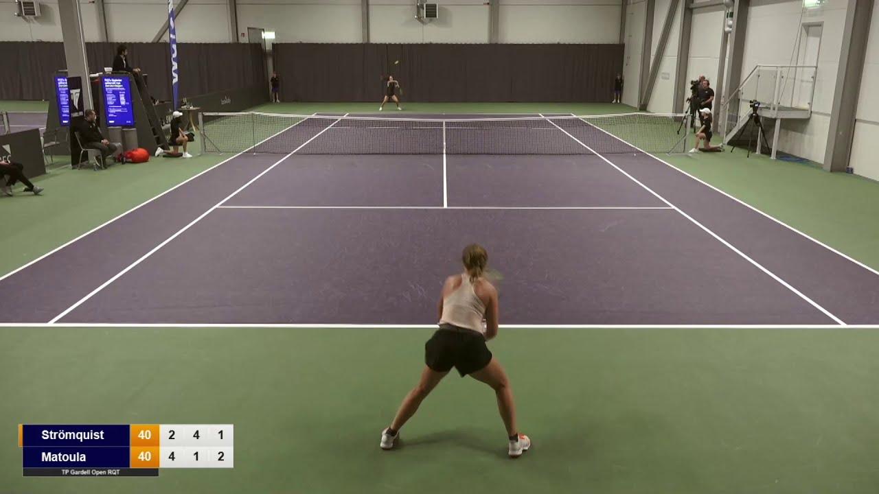 Tilde Strömquist – Martha Matoula – Highlights, Final, TP/Gardell Open RQT