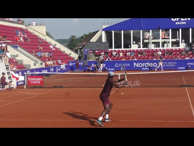 Elias Ymer vs Henri Laaksonen (4K) Court Level Highlights, Swedish Open 2021