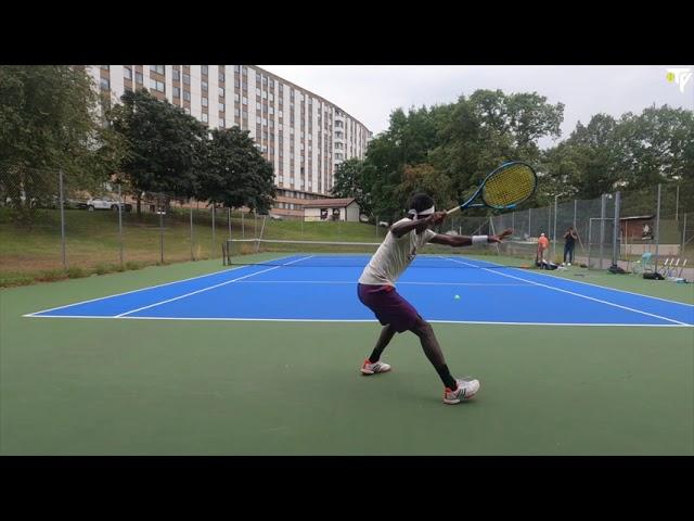 TV: Mikael Ymer & Elias Ymer träning i Stockholm inför US Open (4K)